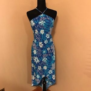Express blue floral dress size 7/8
